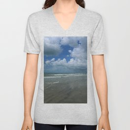 Dramatic Sky Over Litchfield Beach Unisex V-Neck