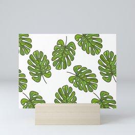 UrbanNesian Green Monstera Leaf Mini Art Print