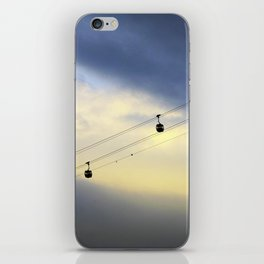 PHOTOGRAPHY / CABLE CAR IN THE SKY 01 iPhone Skin