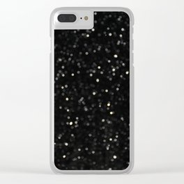 Bokeh Snowfall 2 Clear iPhone Case