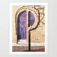 art nouveau Art Prints featuring Nouveau by Cynthia Decker