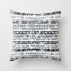 Tribal Stripe - B & W Throw Pillow