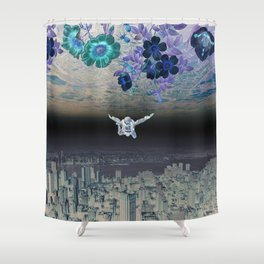 A Skydiver Between Two Parallel Universes Shower Curtain
