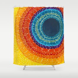 African American Masterpiece The Eclipse by Alma Thomas Shower Curtain