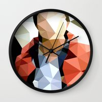 marty mcfly Wall Clocks featuring Back to the Future // Marty McFly by VIVA LA GRAPH!