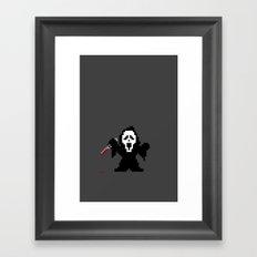 Scream Pixels Framed Art Print