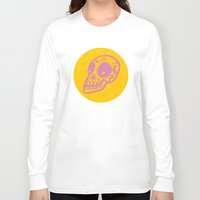 sugar skulls Long Sleeve T-shirts featuring Sugar Skulls by Rhys Prosser