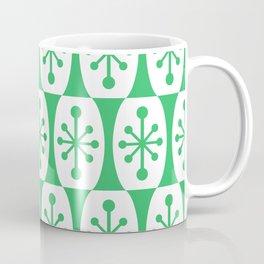 Mid Century Modern Atomic Fusion Pattern Green Coffee Mug