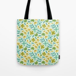 Clover & Floral Field Tote Bag