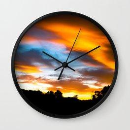 Burning Sunset Wall Clock