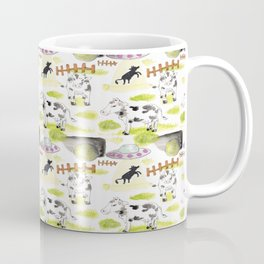 abducted cow pattern Coffee Mug