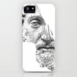 MARCUS AURELIUS ANTONINUS AUGUSTUS / black / white iPhone Case
