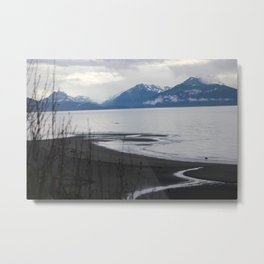 Solitude :: A Lone Kayaker Metal Print