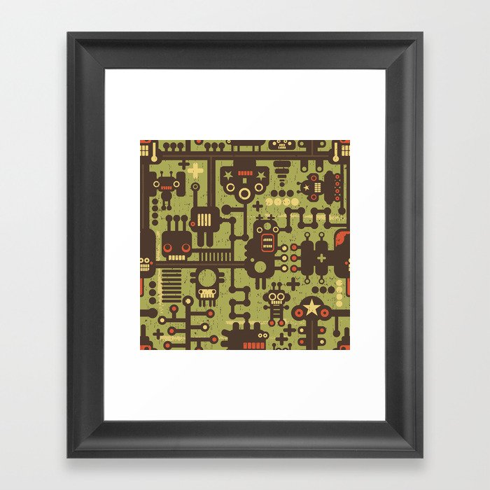World of robots. Framed Art Print