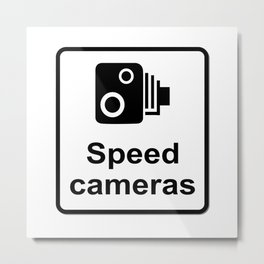 Speed Cameras Sign Metal Print