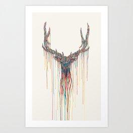 Dripping Deer Art Print