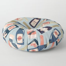 French Champagne Collection – Navy & Coral Floor Pillow