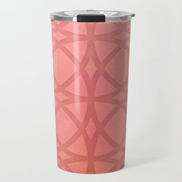 coral pink minimal pattern with geometric lines Travel Mug