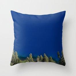 Crater Lake Blue II Throw Pillow