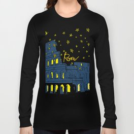Rome Italy Colosseum Starry night Long Sleeve T-shirt