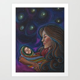 Mamá's Gaze Art Print