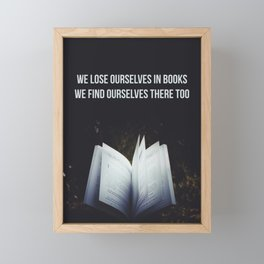 Books Framed Mini Art Print