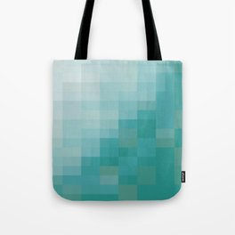 SAM SQWATCH | squares, pixels, turquoise Tote Bag