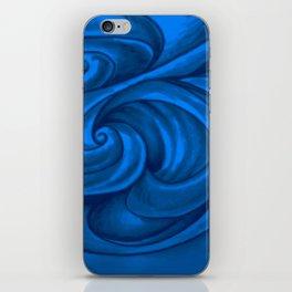 swirl (dark blue) iPhone Skin