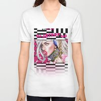 artrave V-neck T-shirts featuring artRAVE by Denda Reloaded