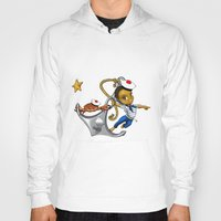 marine Hoodies featuring Marine by Andre auguste-charlery
