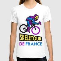 tour de france T-shirts featuring Skeletor Tour De France by Tabner's