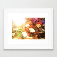 coconut wishes Framed Art Prints featuring COCONUT by Laura James Cook