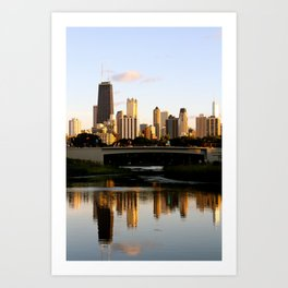 Chicago Skyline Reflection Art Print