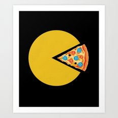 Pizza-Man Art Print