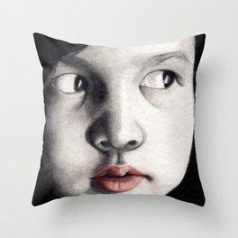 oriental girl Throw Pillow