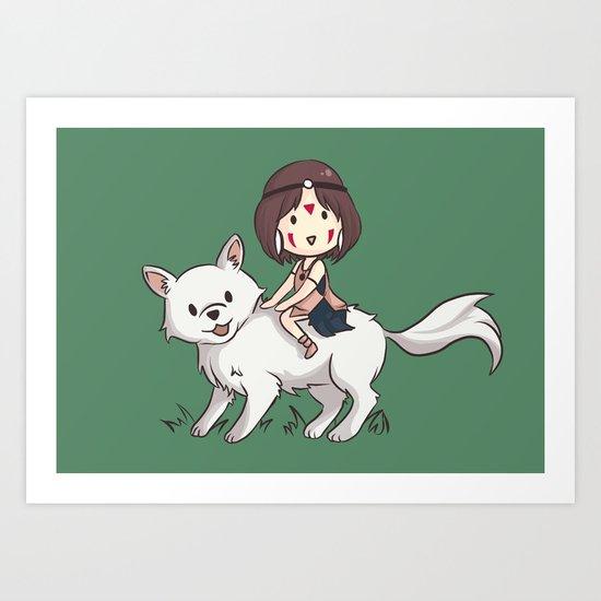 Princess Mononoke II Art Print