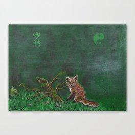 Fox of Shaolin Canvas Print