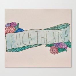 Fuck The N.R.A. Canvas Print