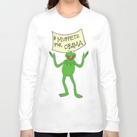 muppets Long Sleeve T-shirts featuring Muppets for Obama by Illustrated by Jenny