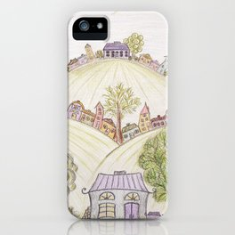 Hills of Colorful Houses iPhone Case
