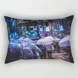 Shibuya center-gai at Rainy Night Rectangular Pillow