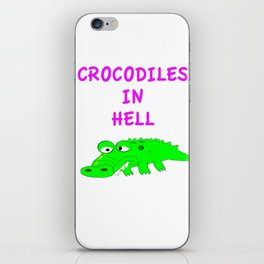 Crocodiles in Hell iPhone Skin