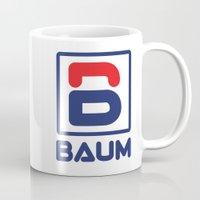 tenenbaum Mugs featuring Richie 'Baum' Tenenbaum T-Shirt by Tabner's