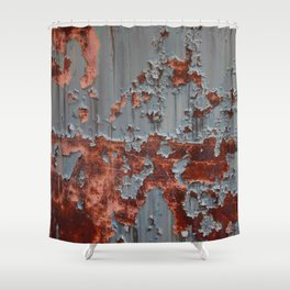Rusty Metal Shower Curtain
