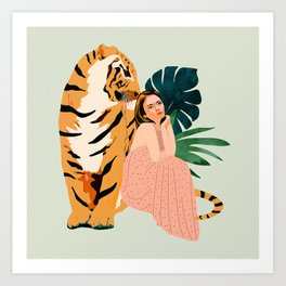 Tiger Spirit Art Print