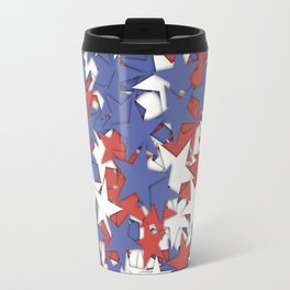 Red blue white stars Travel Mug