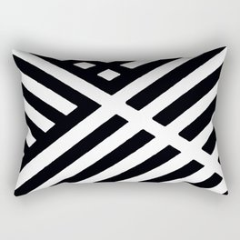 BLACK AND WHITE INTERSECTION PATTERN Rectangular Pillow