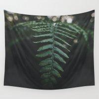 fern Wall Tapestries featuring Fern by Bor Cvetko