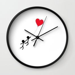 Love is in the air by Oliver Henggeler Wall Clock
