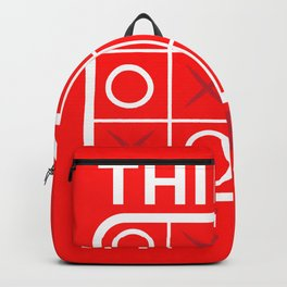 Tic Tac Toe Think Outside Free Play Gift Backpack